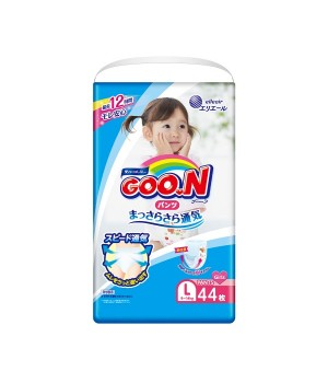 Трусики-подгузники Goo.N для девочек коллекция 2019 (L, 9-14 кг)