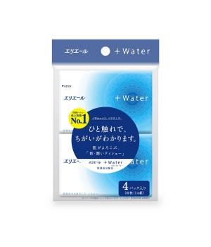 Платочки Бумажные Увлажняющие Elleair +Water (4 Карманные Упаковки * 14 Шт)