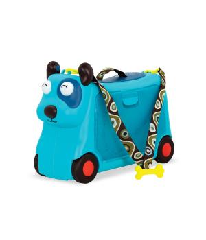 Детский чемодан-каталка для путешествий - ПЕСИК-ТУРИСТ