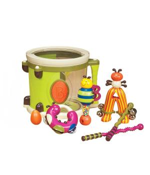 Детские музыкальные инструменты – ПАРАМ-ПАМ-ПАМ (7 инструментов, в барабане)