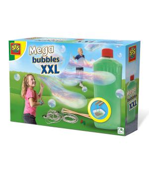Набор для создания гигантских мыльных пузырей - Мегапузыри XXL (мыльный раствор, инструменты)