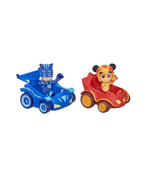 Игрушки Герои в масках - Кэтбой и АН Ю (2 фигурки, 2 машинки), Hasbro