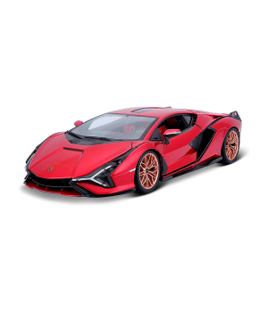 Автомодель - LAMBORGHINI SIAN FKP 37 (красный металлик, 1:18)