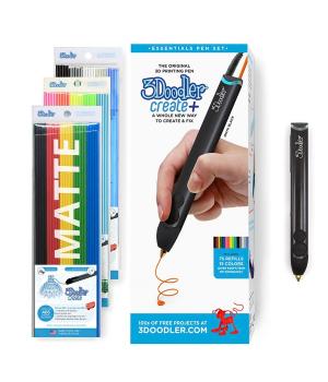 3D ручка 3Д для детей и взрослых 3Doodler Create Plus Для профессионального использования - Черная