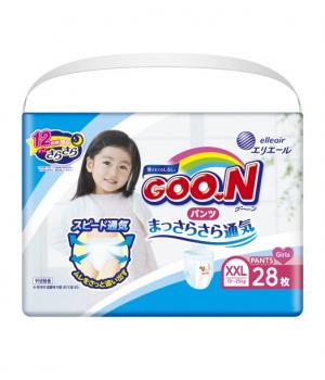 Трусики-подгузники Goo.N для девочек коллекция 2020 (XXL, 13-25 кг)