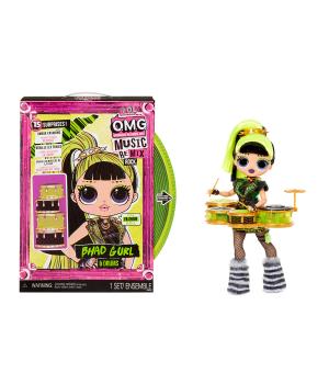 """Игровой набор с куклой L.O.L. SURPRISE! серии """"O.M.G. Remix Rock"""" – ЛЕДИ-РИТМ (с барабанами и акс.)"""