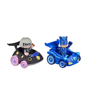 Игрушки Герои в масках - Кэтбой и  Луна (2 фигурки, 2 машинки), Hasbro