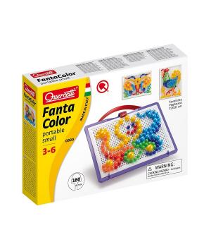 Мелкая мозаика для детей (160 Фишек 10-15-20 Мм + Доска 22Х16) Quercetti
