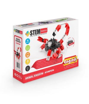 Детский Конструктор серии STEM HEROES - Царство животных: скорпион