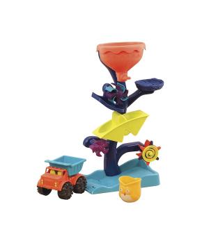 Набор для игры с песком и водой - МЕЛЬНИЦА (в комплекте машинка, ведерце), Battat