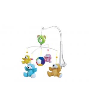 Подвеска на кроватку с мягкими игрушками, музыкальная, Мишки, Bell
