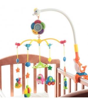 Карусель на кроватку для новорожденных, музыкальная