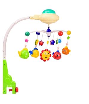 Музыкальный мобиль на детскую кроватку с проектором,мелодии,пульт, Bell