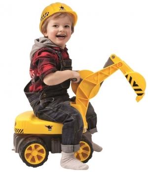 Детский экскаватор для песочницы с ковшом, с сиденьем, BIG