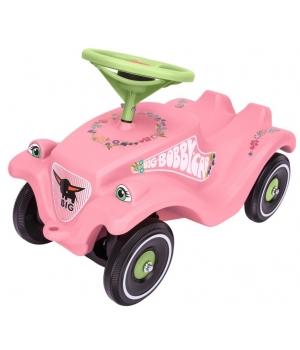 Машина толокар для девочки, розовая, с защитными насадками, BIG