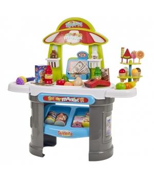 Игрушка супермаркет с кассой (прилавок,продукты),звук, свет