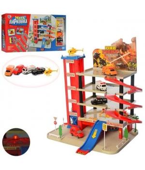 Игрушка паркинг с лифтом 5-уровневый, световые и звуковые эффекты
