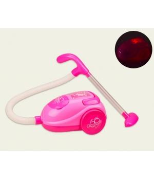 Пылесос игрушка детская на батарейках (свет,звук,с пакетом пенопласта)
