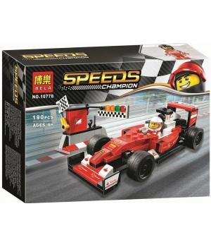 Конструктор формула 1, Болид Ferrari SF16-H красная, 190 деталей, BELA SPEEDS