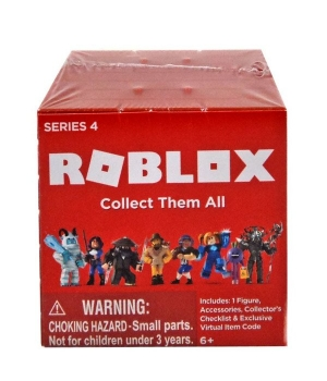 Роблокс 4 серия фигурки (красный кубик) - Brick S4