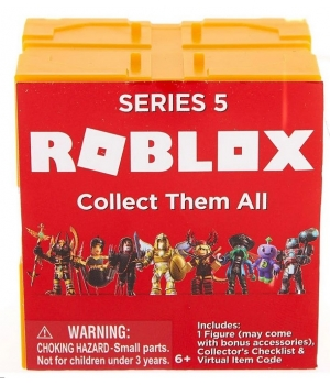 Роблокс 5 серия фигурки (оранжевые кубики) - Mystery Figures Industrial S5
