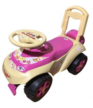 Машинка толокар для девочки, песочно-розовый, Doloni Toys