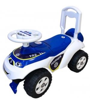 Толокар каталка полицейская с рулем, (укр-поліція) Doloni Toys