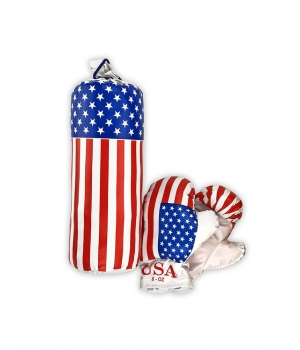 Маленький боксерский набор детский с перчатками от 3 лет, 0,5 кг, S-USA