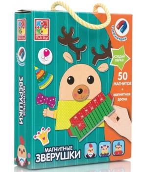 Развивающая магнитная игра с животными, Vladi Toys