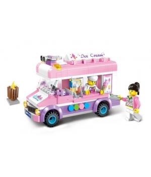 Конструктор для девочки Фургон Мороженого, 213 деталей