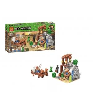 """Игрушка конструктор """"My World Minecraft - Майнкрафт - Майнкрафт: работа на шахте """", 303 дет 11137"""