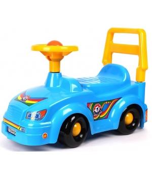Детская каталка с рулем машинка толокар, (синяя), Технок