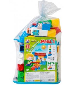 """Детский конструктор с большими кубиками """"Макс 1"""", 36 элементов, Технок"""