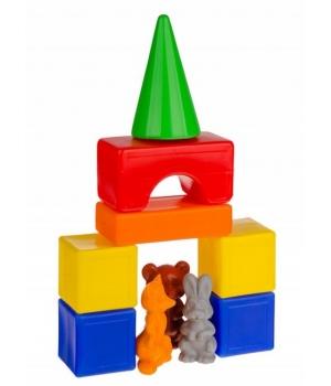 """Конструктор для самых маленьких детей """"Теремок - геометрические фигуры"""", 20 деталей"""