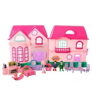 Детский дом для куклы (куколки,мебель,аксессуары,звук-свет) 48 см