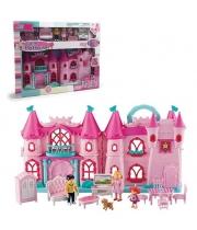 Детский замок для кукол (свет,звук,куколки,мебель,аксес)