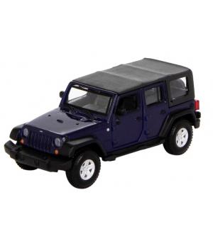 Машинка Джип Вранглер Анлимитед Рубикон коллекционная модель Jeep Wrangler Unlimited Rubicon металлическая, 1:32, Bburago