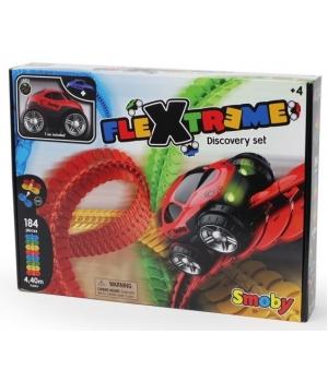 Флекстрим гибкий трек, игровой набор с машинкой, 184 эл, 440см, Flextreme Smoby