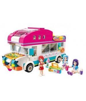Конструктор для девочки Фургончик для отдыха, 309 деталей