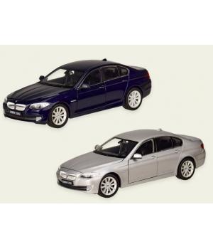 Коллекционная модель БМВ 535 (BMW 535I) машинка металлическая, 1:24, (темно-синий, серебристый), WELLY