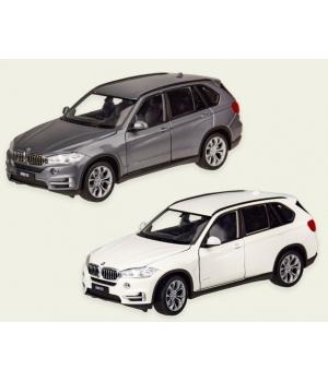 Коллекционная модель БМВ х5 (BMW X5) машинка металлическая, 1:24, (белый, серый), WELLY