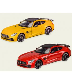 Машинка MERCEDES-AMG GT-R металлическая, коллекционная модель Мерседес Бенз АМГ ГТ-Р, 1:24, WELLY