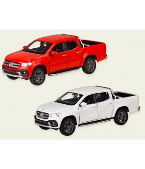 Машинка Джип MERCEDES-BENZ X-CLASS Pick-up металлическая, коллекционная модель Мерседес Бенз Пикап, 1:27, WELLY