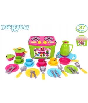 """Посудка детская игрушечная """"Кухонный набор № 9"""" (37 шт), Технок"""