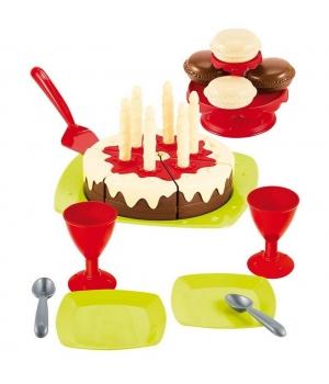"""Игрушечный набор посуды Торт с днем рождения, """"Happy Birthday"""" , 25 элементов, Ecoiffier"""