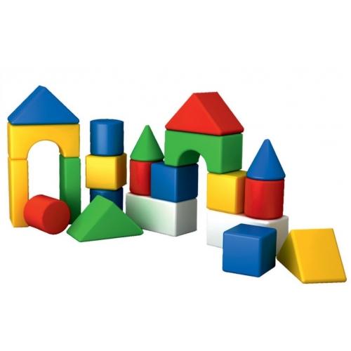 Конструктор для самых маленьких детей, геометрические фигуры, 21 деталь, Технок