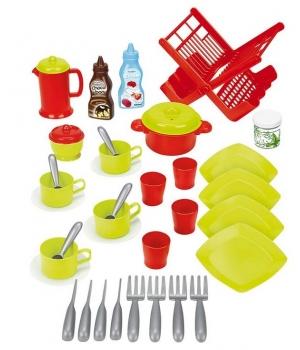 Детская игрушечная посудка Chef-Cook, 39 элементов, Ecoiffier
