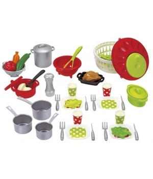 Игрушечная посудка для детей Chef-Cook, 47 элементов, Ecoiffier