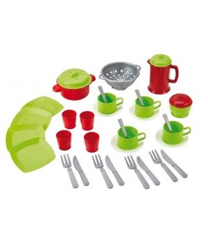 Игрушечная посуда для детей с сумочкой, 24 элемента, Ecoiffier