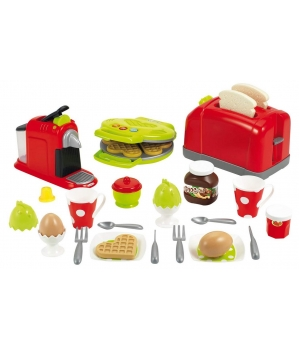 """Игрушечный набор посуды и продуктов """"Кухонная техника"""", 33 элемента, Ecoiffier"""